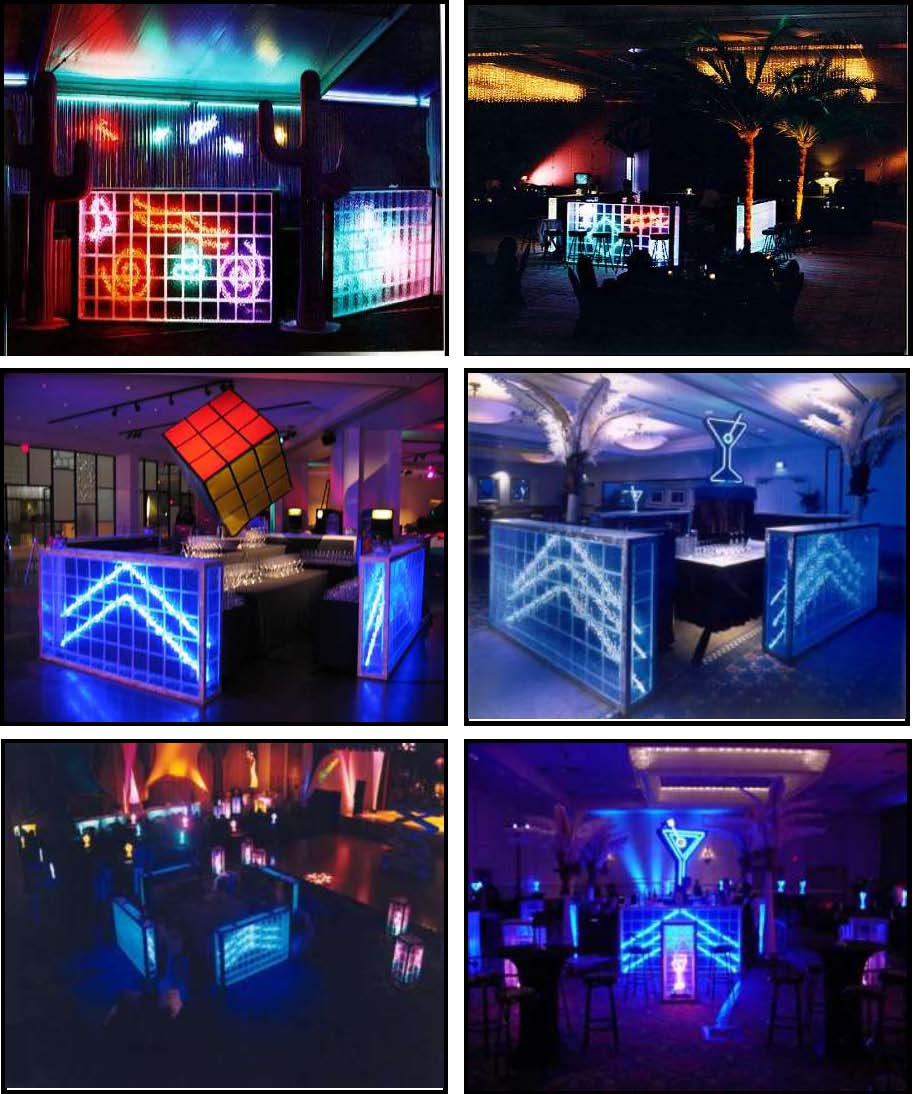 audio video & lighting - glass block bars