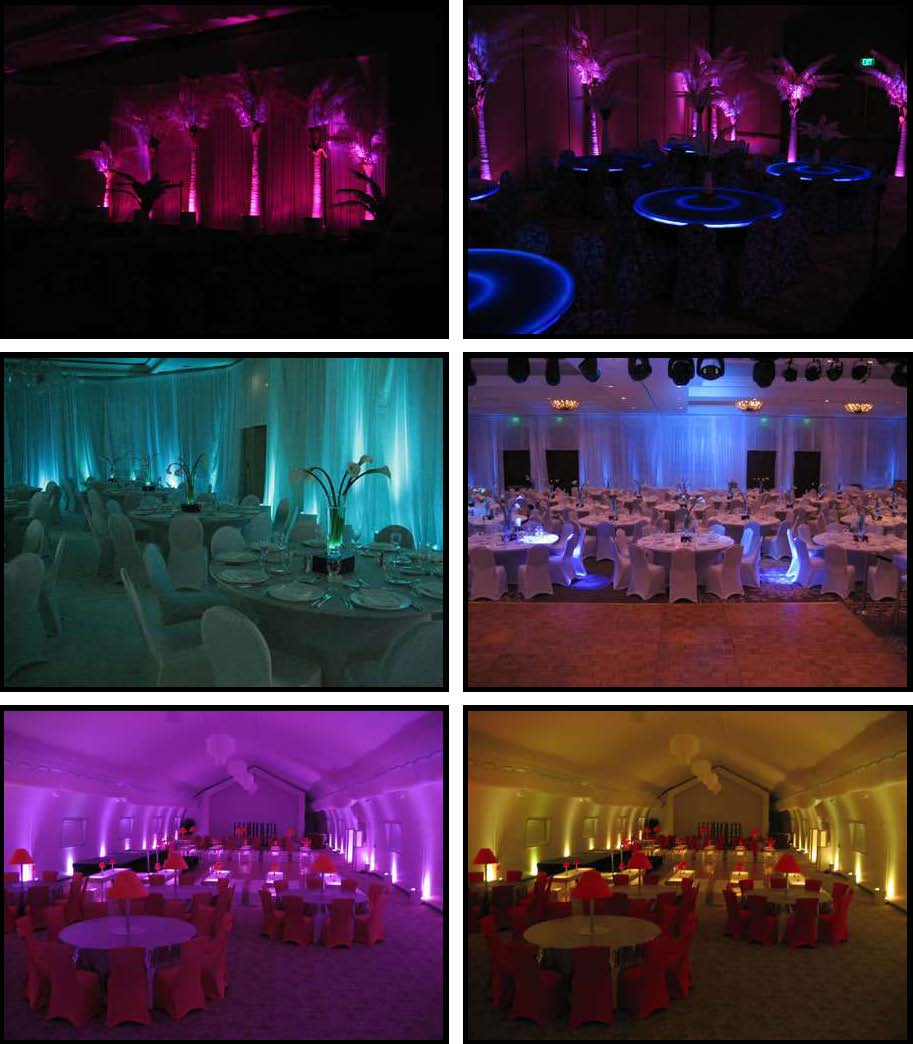 audio video & lighting - uplights