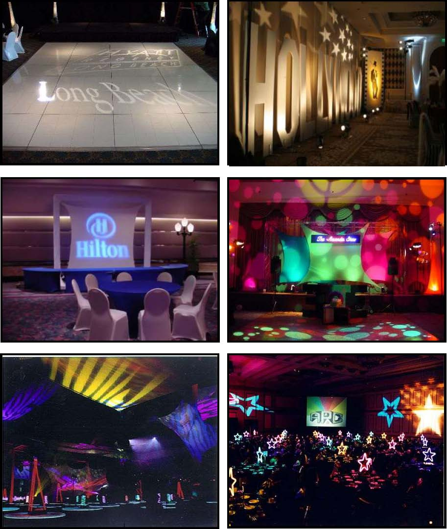 audio video & lighting - gobos
