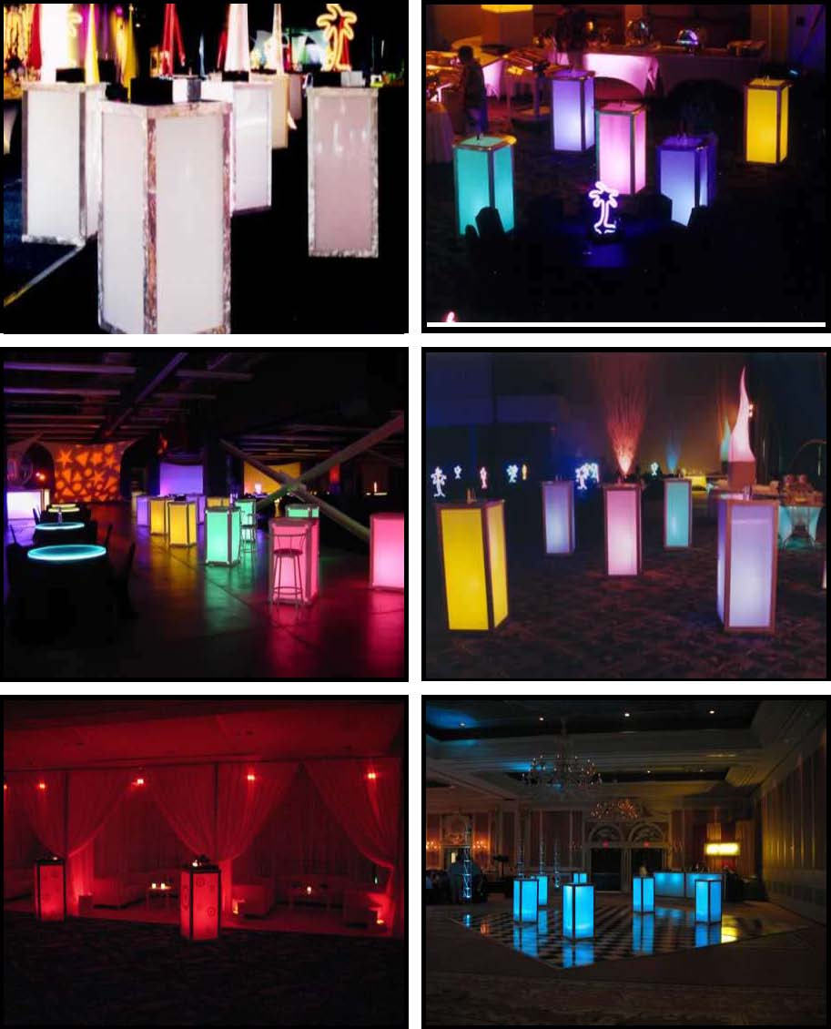 ILLUMINATED LED Standup Cubes