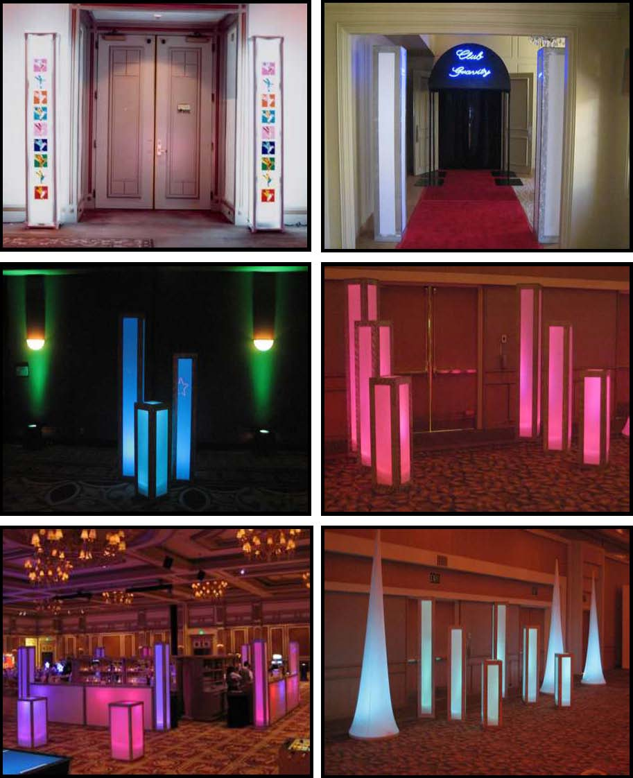 ILLUMINATED LED Columns