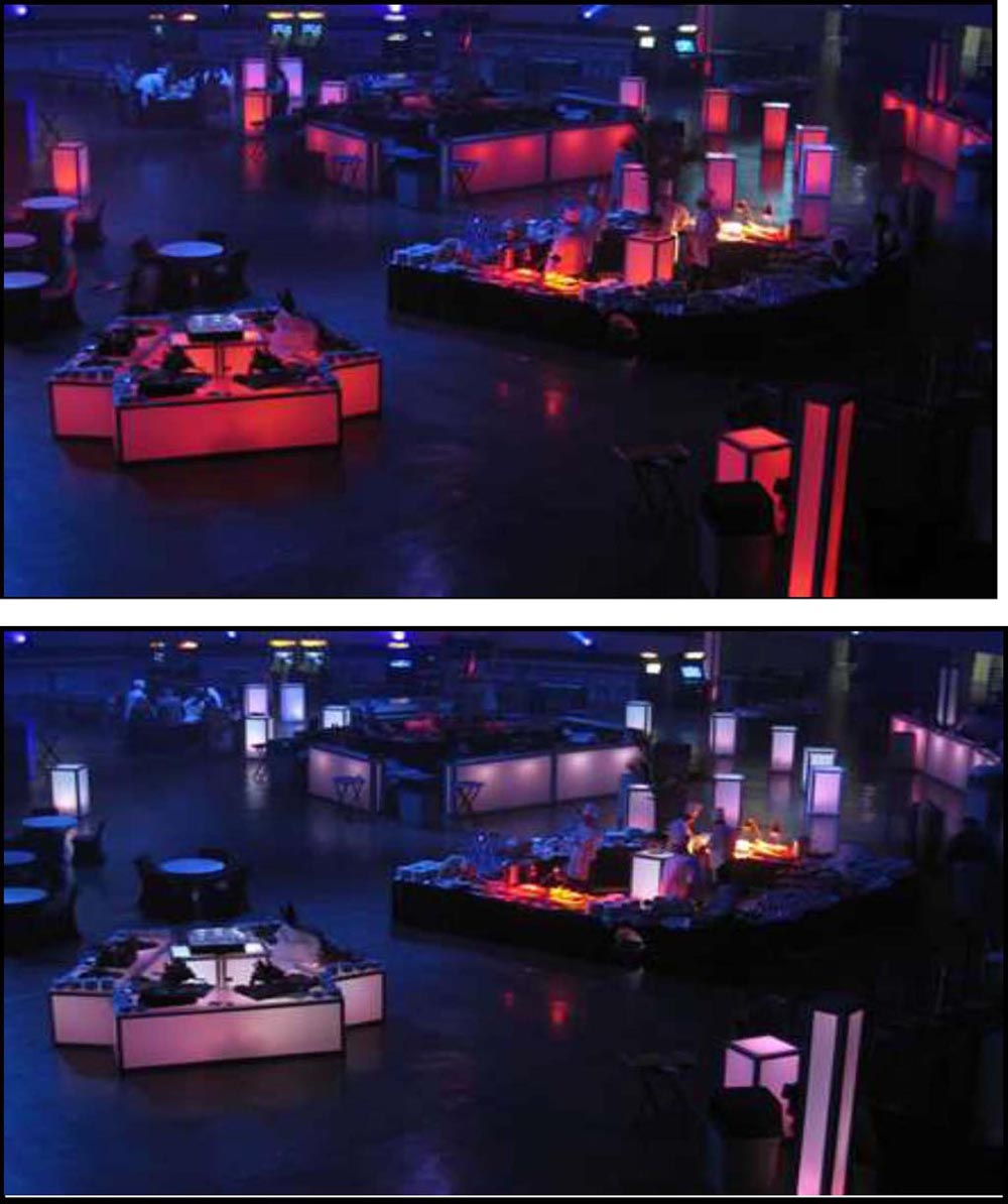 ILLUMINATED LED Bars, Columns, Standups, Buffets