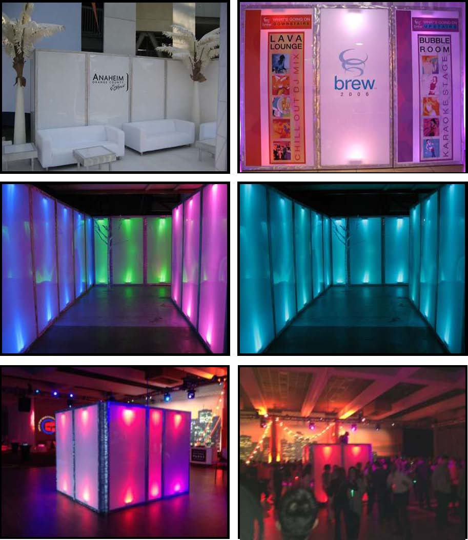 ILLUMINATED LEDs Upright Walls