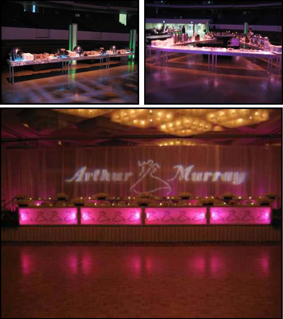 "ILLUMINATED LEDs Dinner Tables 30""x 8 ft"